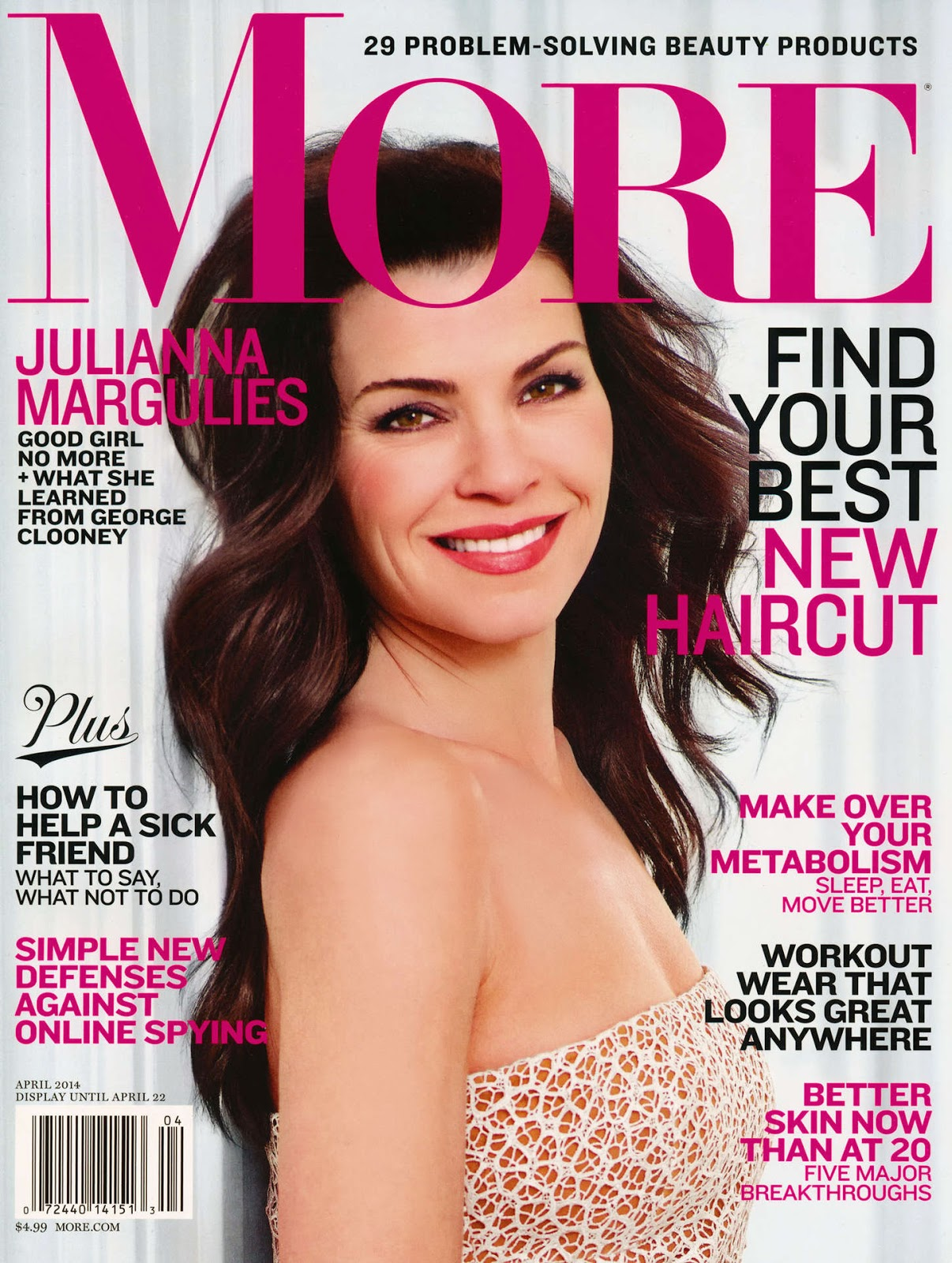 More Magazine November 2014 Issue: The Charmer Pages : Julianna Margulies For