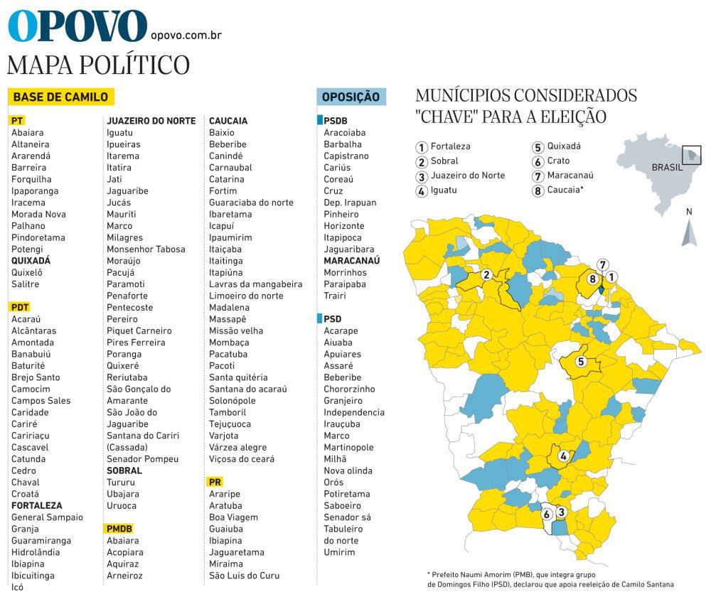 Conversa De Alpendre Mapa Politico Do Ceara
