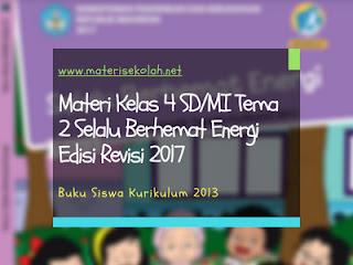 Materi Kelas 4 SD/MI Tema 2 Edisi Revisi 2017 (K-2013)