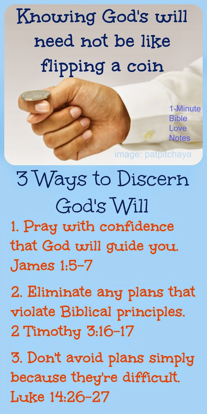 discerning God's will, 3 biblical principles for knowing God's will