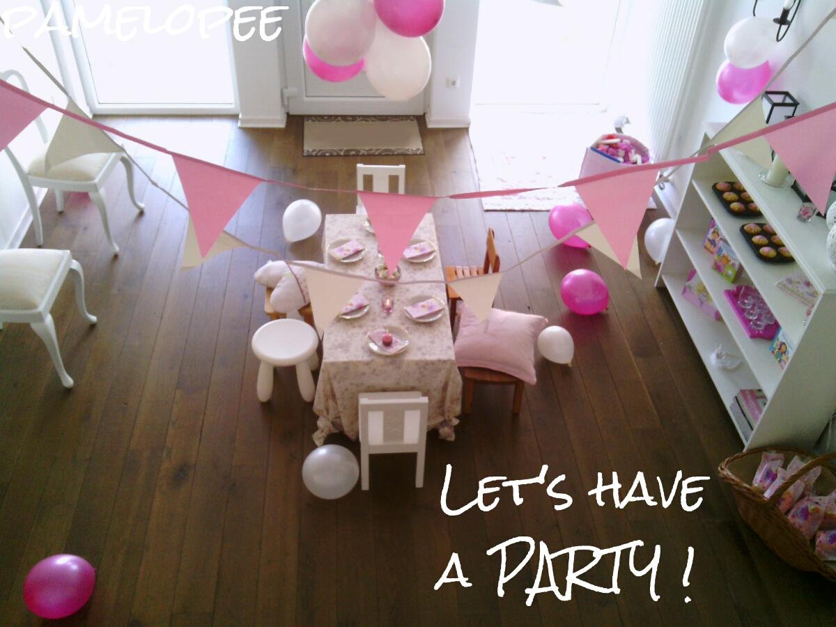 pamelopee party dekoration f r die prinzessin. Black Bedroom Furniture Sets. Home Design Ideas
