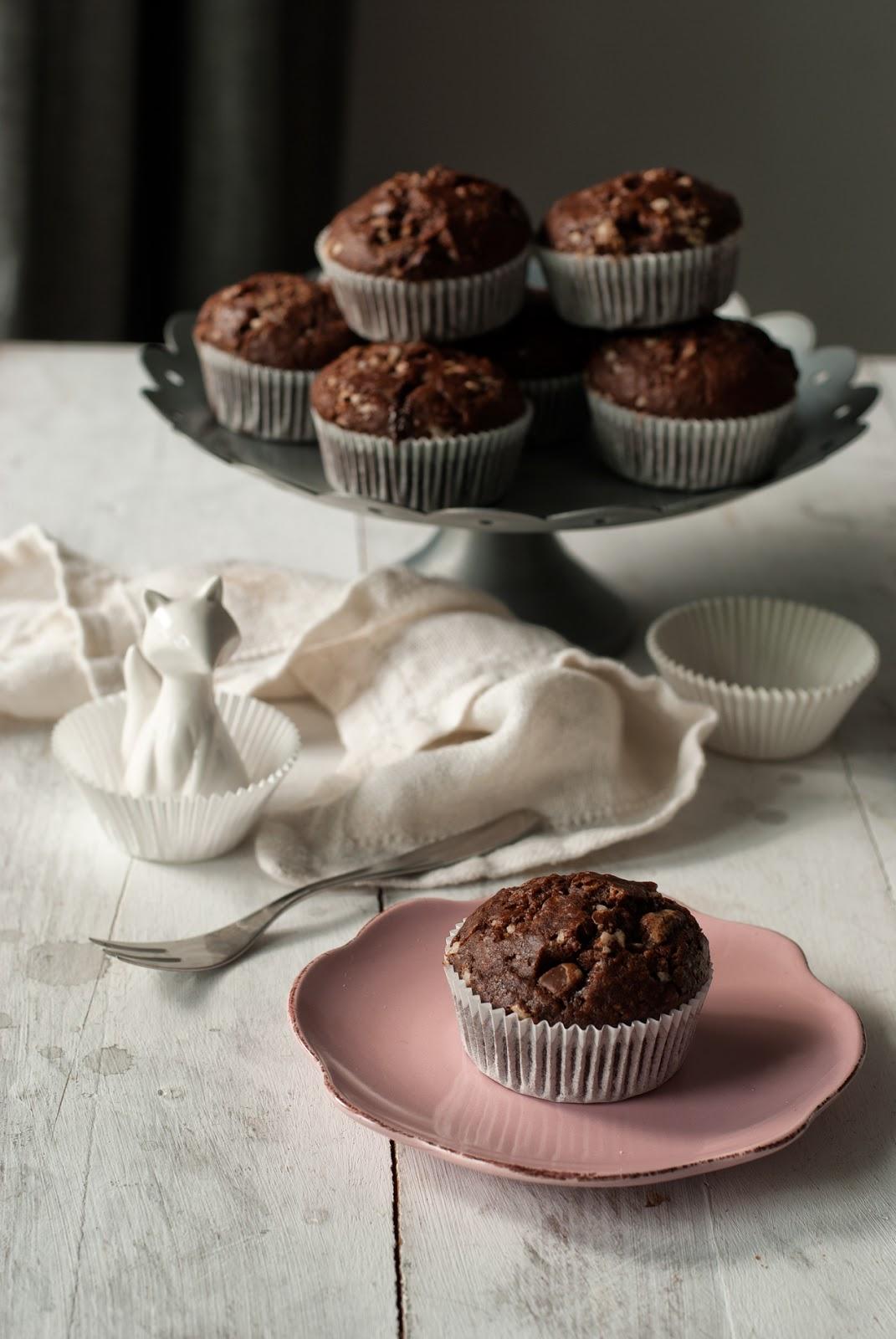 Proste czekoladowe muffiny bezglutenowe