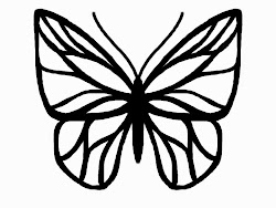butterfly outline template drawing outlines silhouette monarch tattoo fabric clip sketch simple clipart tattoos cameo pattern patterns wing indigo coloring