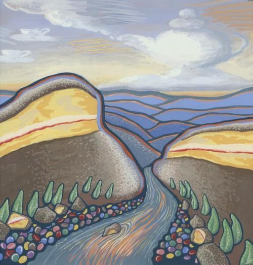 Lamington National Park by Alisa Perks, gouache on paper