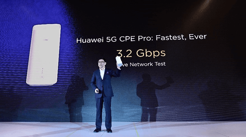 The 5G CPE Pro is powered by Balong 5000