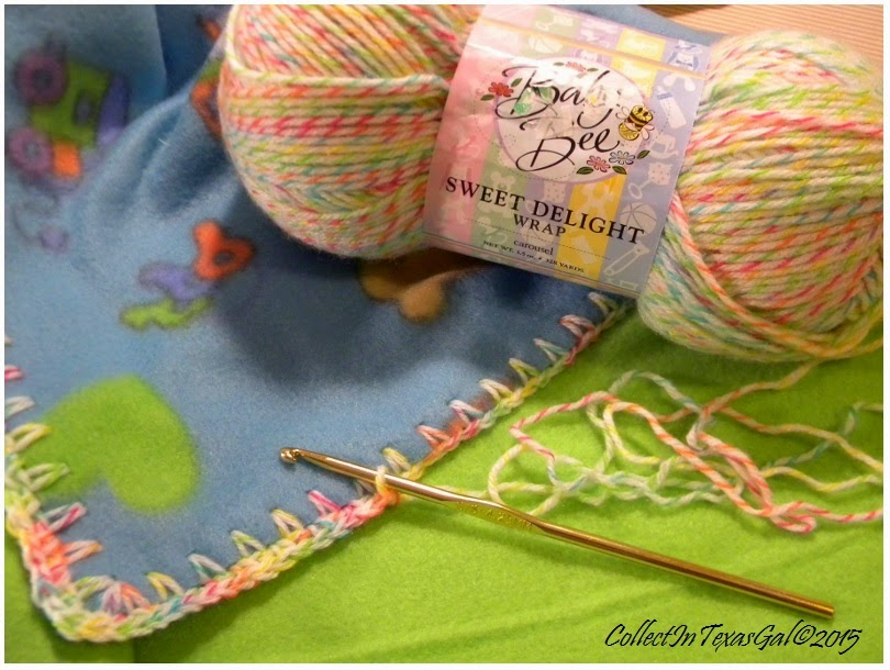 So sweet and soft.  This varigated yarn adds just the right touch.
