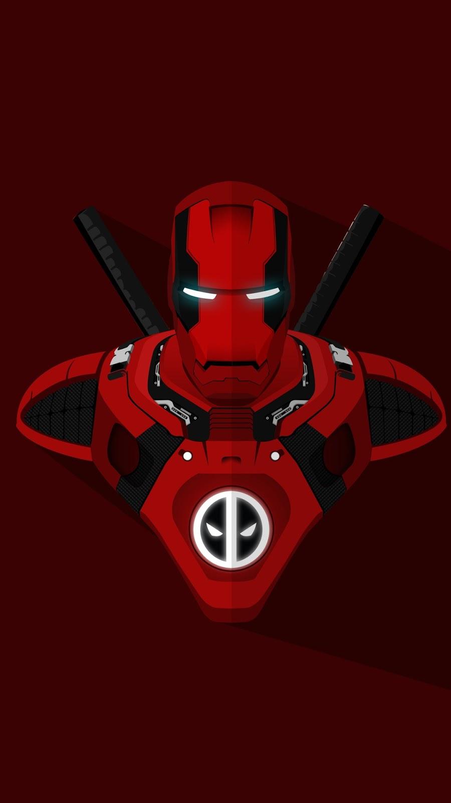 Papel de parede Homem de Ferro Deadpool para PC, Notebook, iPhone, Android e Tablet.