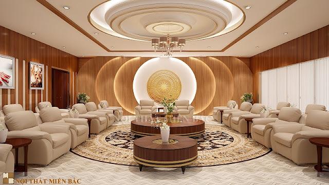 Thiết kế nội thất phòng khánh tiết theo phong cách hiện đại, linh hoạt