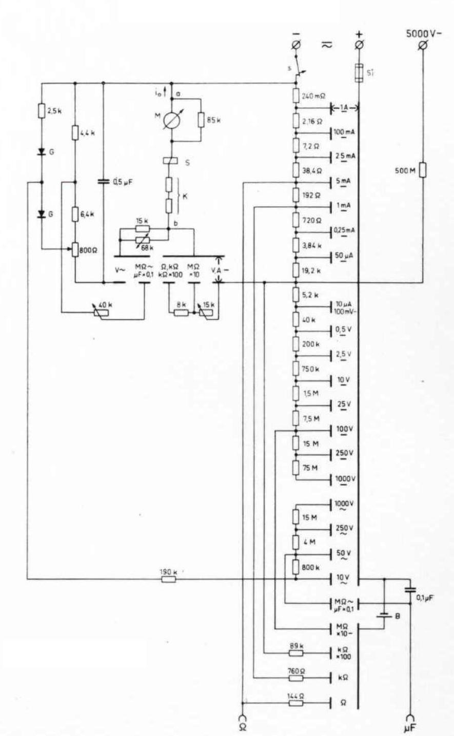 metrawatt unigor 4s analog multimeter circuit diagram [ 885 x 1434 Pixel ]