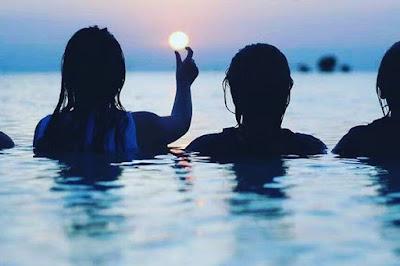 Bali, pulau bali, sunset di pantai kuta