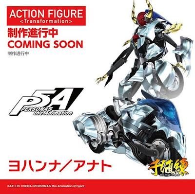 Triple anuncio para Makoto Niijima con Figma, Nendoroid y action-figure trasformable para su Persona Johanna