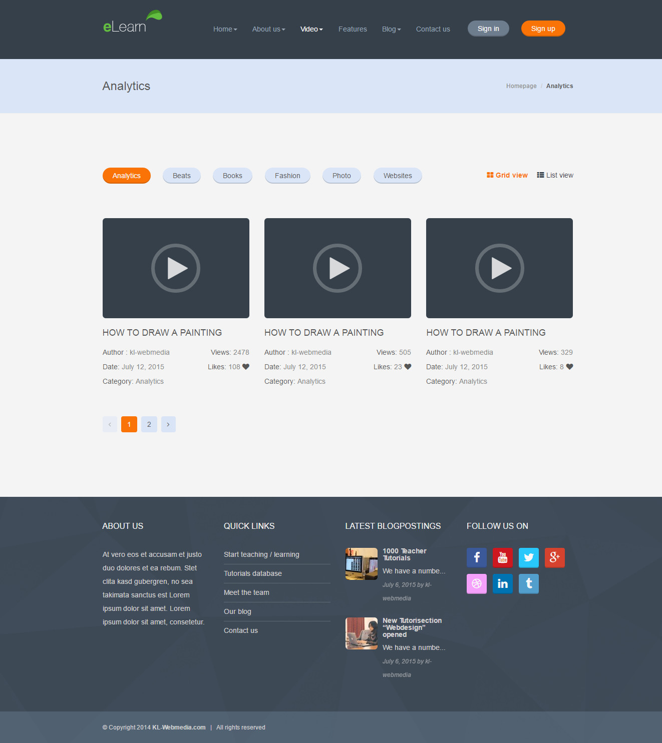 eLearn-wordpress Multipurpes video themes