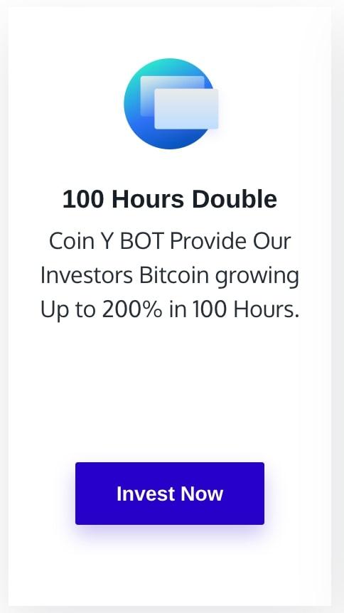 Инвестиционный план Coin Y Doubler BOT