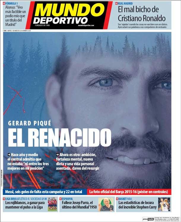 Portada del periódico Mundo Deportivo, martes 1 de marzo de 2016