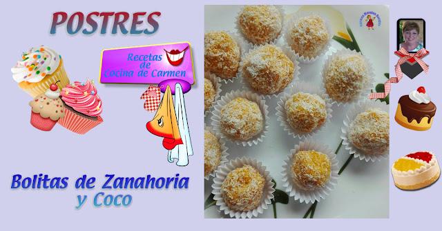 Bolitas de Coco y Zanahoria