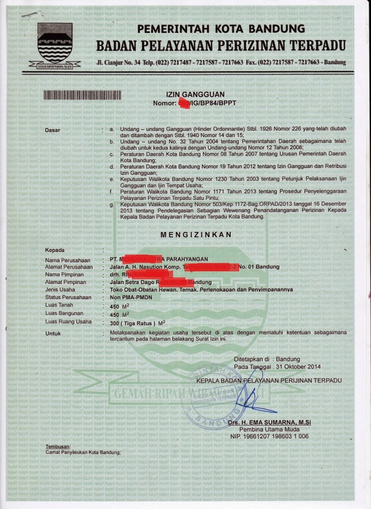 Registrasi IG ( Ijin Gangguan )-mega-birojasa-bandung