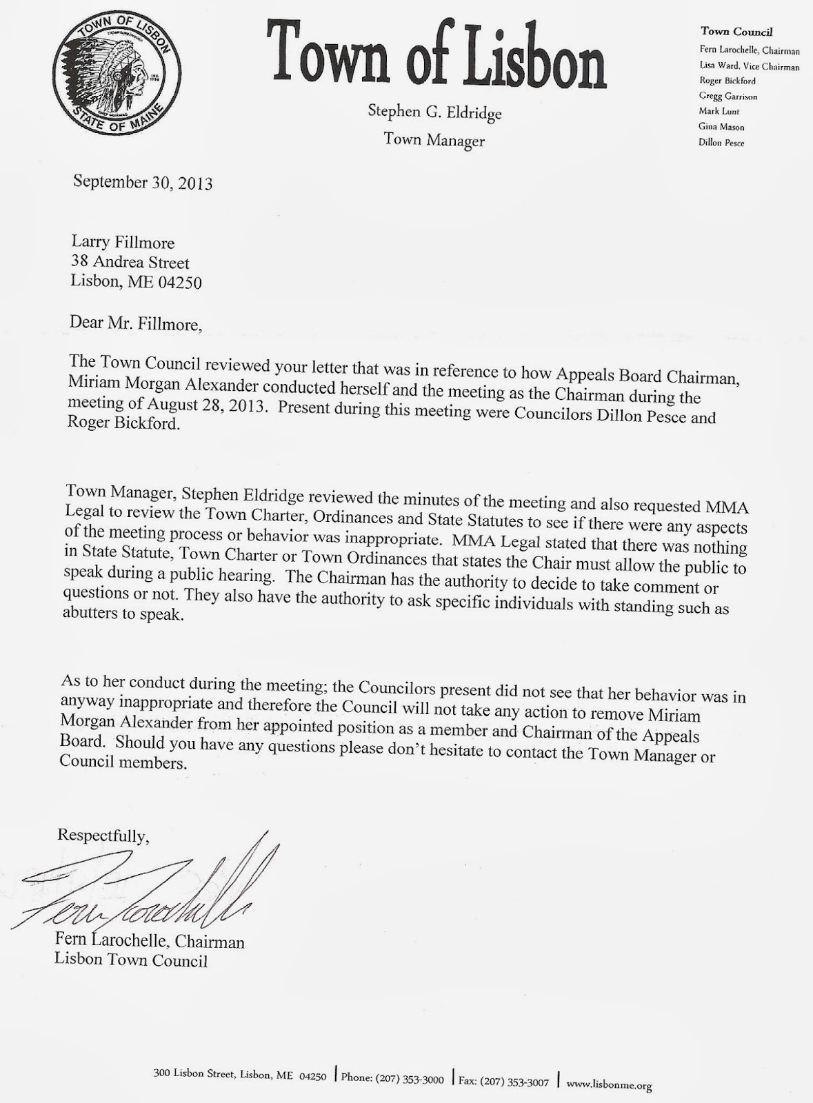 example letter of complaint to the town council the lisbon example letter of complaint to the town council the lisbon reporter public laws