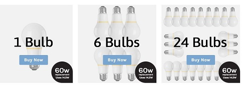 finally bulb selections
