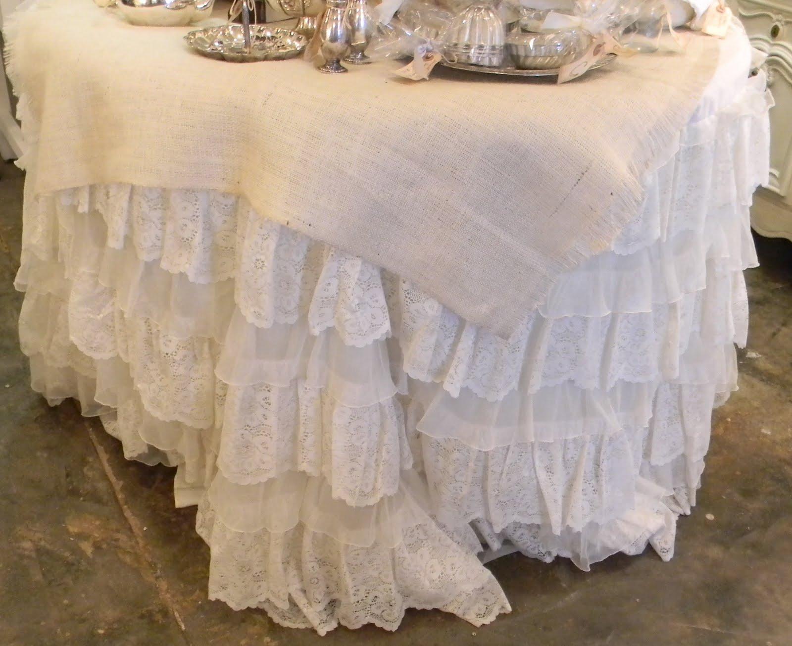 Gracefully Vintage: Vintage Wedding Dress /Tablecloth