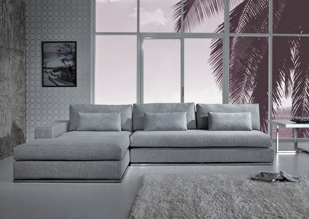 Grey Sectional Couch ~ Grey Suede Sectional Sofa