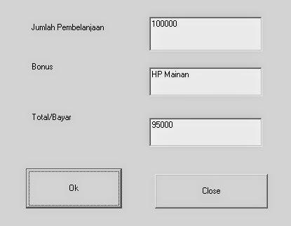 Program Menghitung Diskon dan Bonus Menggunakan IF Kondisional Visual Basic