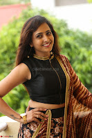 Lasya looks super cute in black choli Saree at Raja Meru Keka Press Meet ~  Exclusive 023.JPG