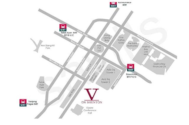 V On Shenton Location