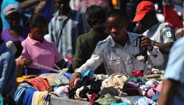 Trader at Yaba market, Lagos