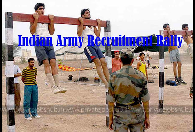 Indian Army Recruitment Rally Chart