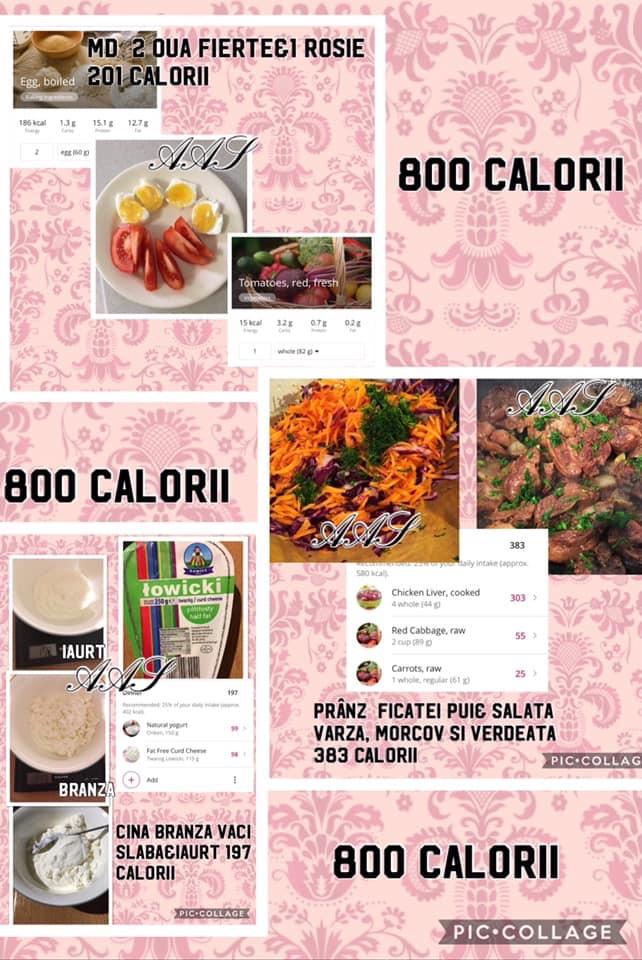 dieta 800 calorii pe zi meniu)