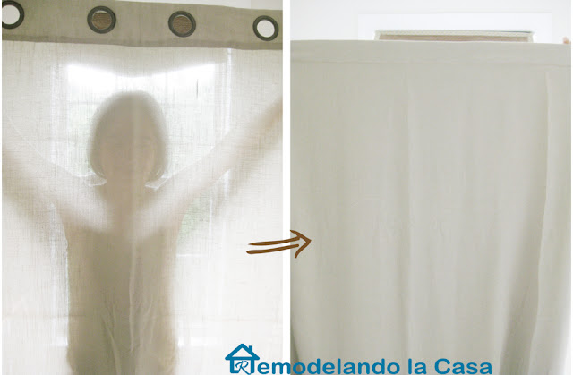 how to black-out line curtains