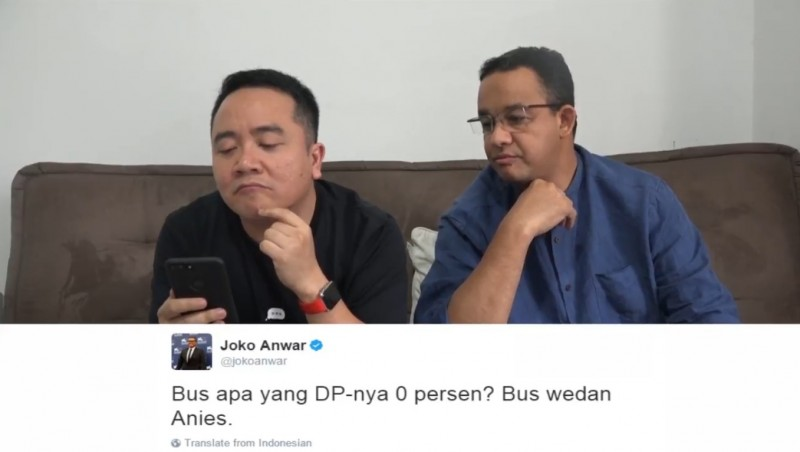 Anies Baswedan membalas sindiran Joko Anwar