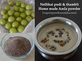 Nellikai pudi and thambli recipe in kannada