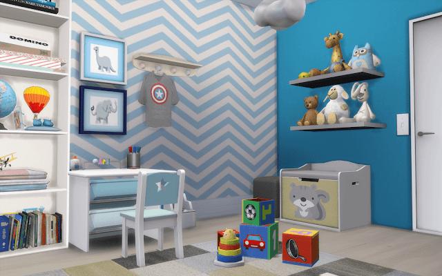 maison chambre enfant sims 4