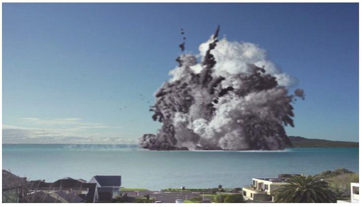VIDEO: Eruzione vulcano sottomarino distrugge Auckland. Come il Marsili? (Filmato simulazione)