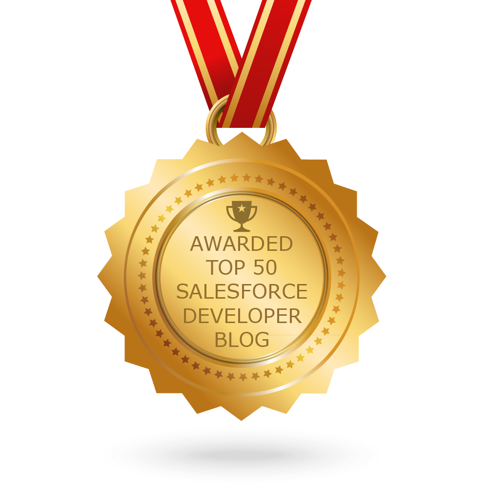 Awarded Top 50 Salesforce Blogs