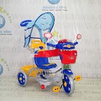 Sepeda Roda Tiga Family F7233C Police Musik Dobel Pesawat Kanopi