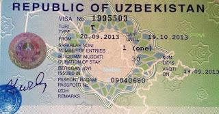 Visado de Uzbekistán