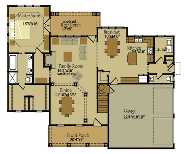Beautiful Country Cottage House Plan   Timber Frame HousesBeautiful Country Cottage House Plan