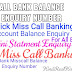 All Bank Miss Call Balance Enquiry Number In Hindi