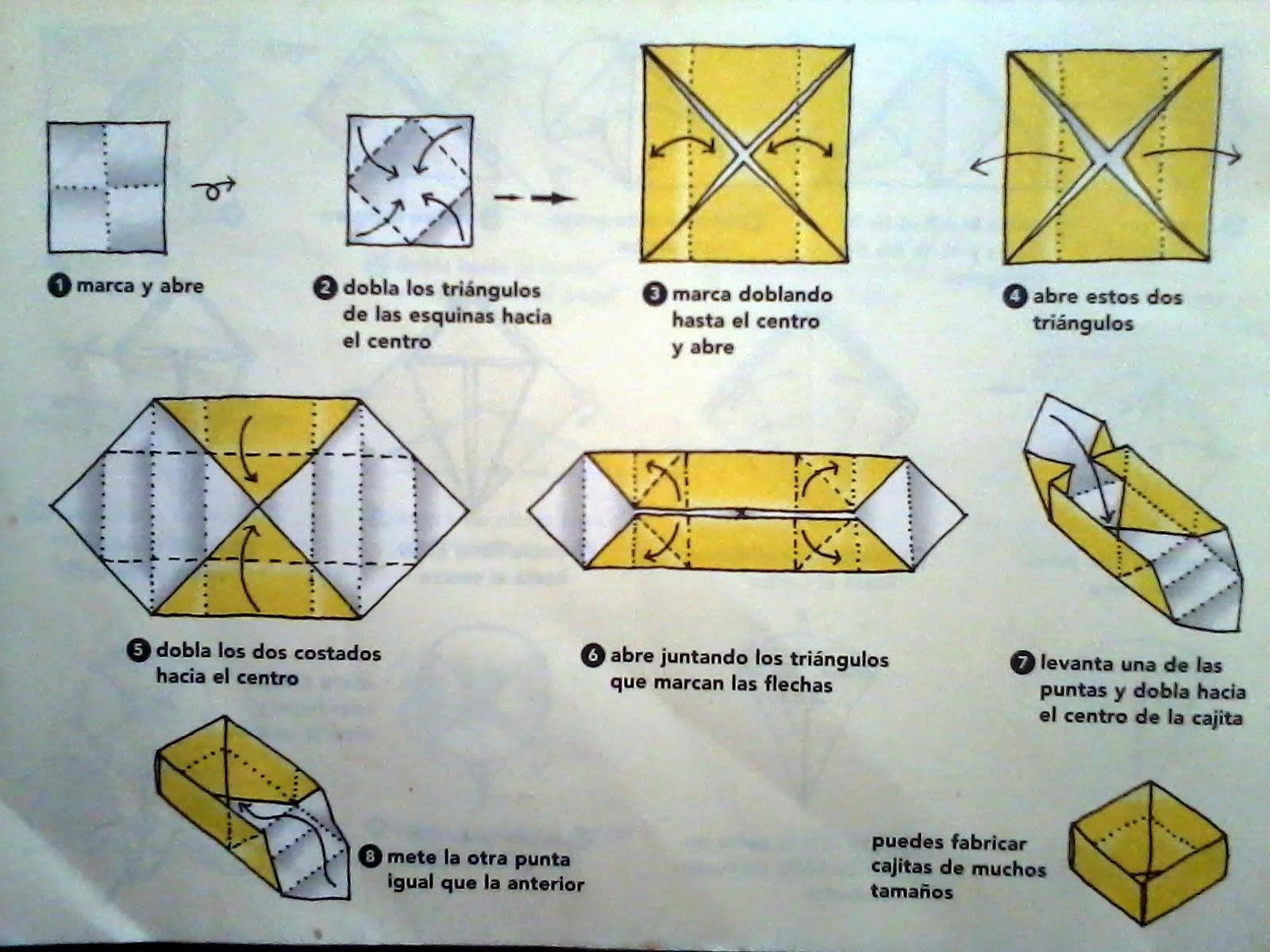 Papiroflexia origami para ni os - Cajas forradas de papel ...