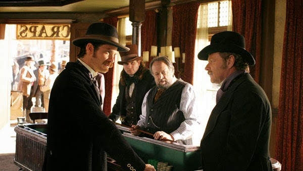"Timothy Olyphant and William Russ in Deadwood's ""Sold Under Sin"""