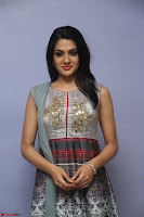 Sakshi Chaudhary Beautiful Emroidery Work Sleeveless Anarkali Dress 006.JPG