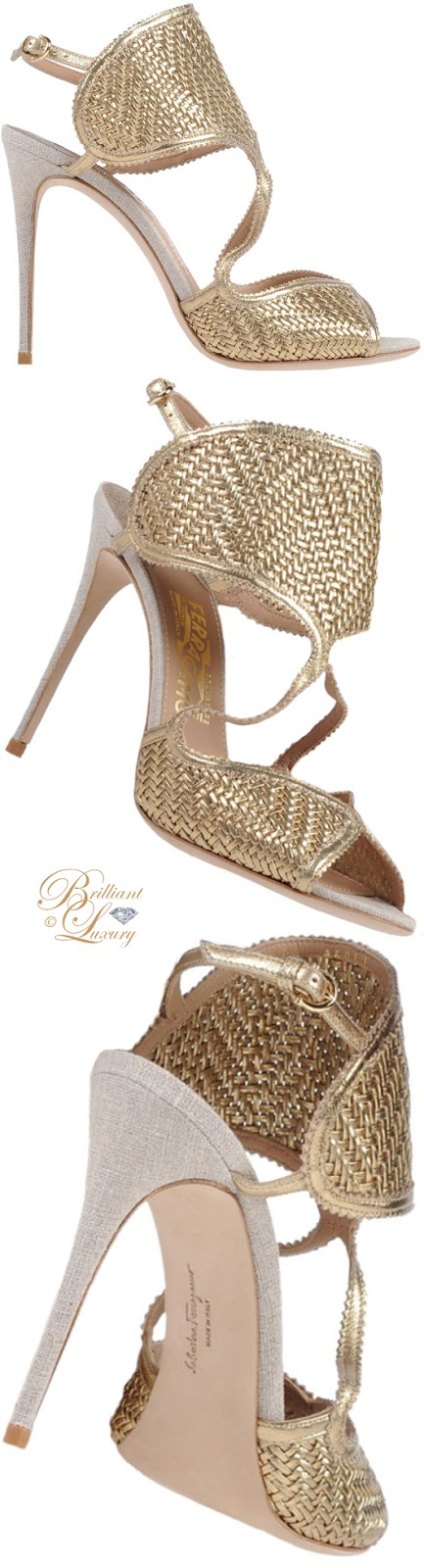 Brilliant Luxury ♦  Salvatore Ferragamo gold sandals