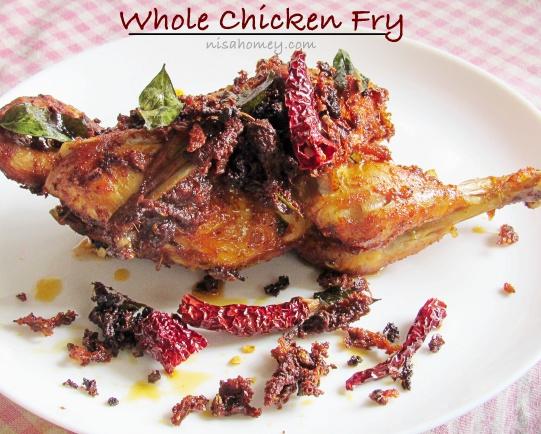 Whole Chicken Fry Recipe - Poricha Kozhi - Kerala Recipes ...