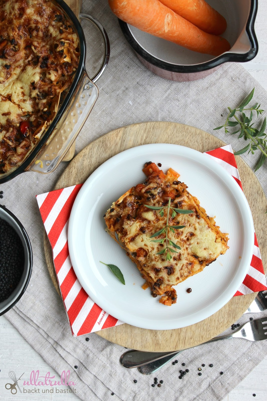 ullatrulla backt und bastelt lasagne mit linsen und gem se der klassiker einmal anders. Black Bedroom Furniture Sets. Home Design Ideas