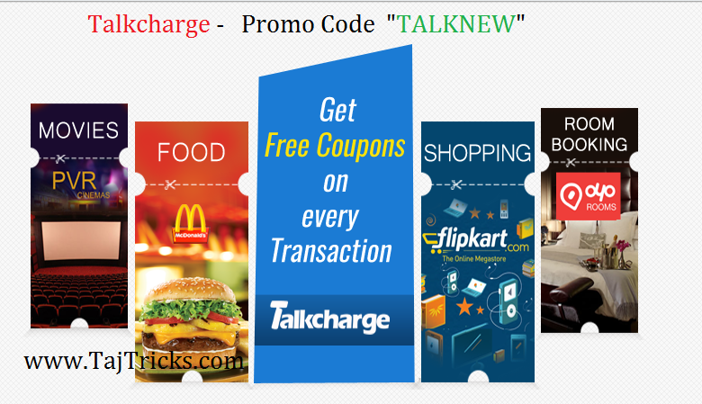 Talkcharge Offer - Rs.10 Cashback on Recharge of Rs.10 Only [Proof Added]