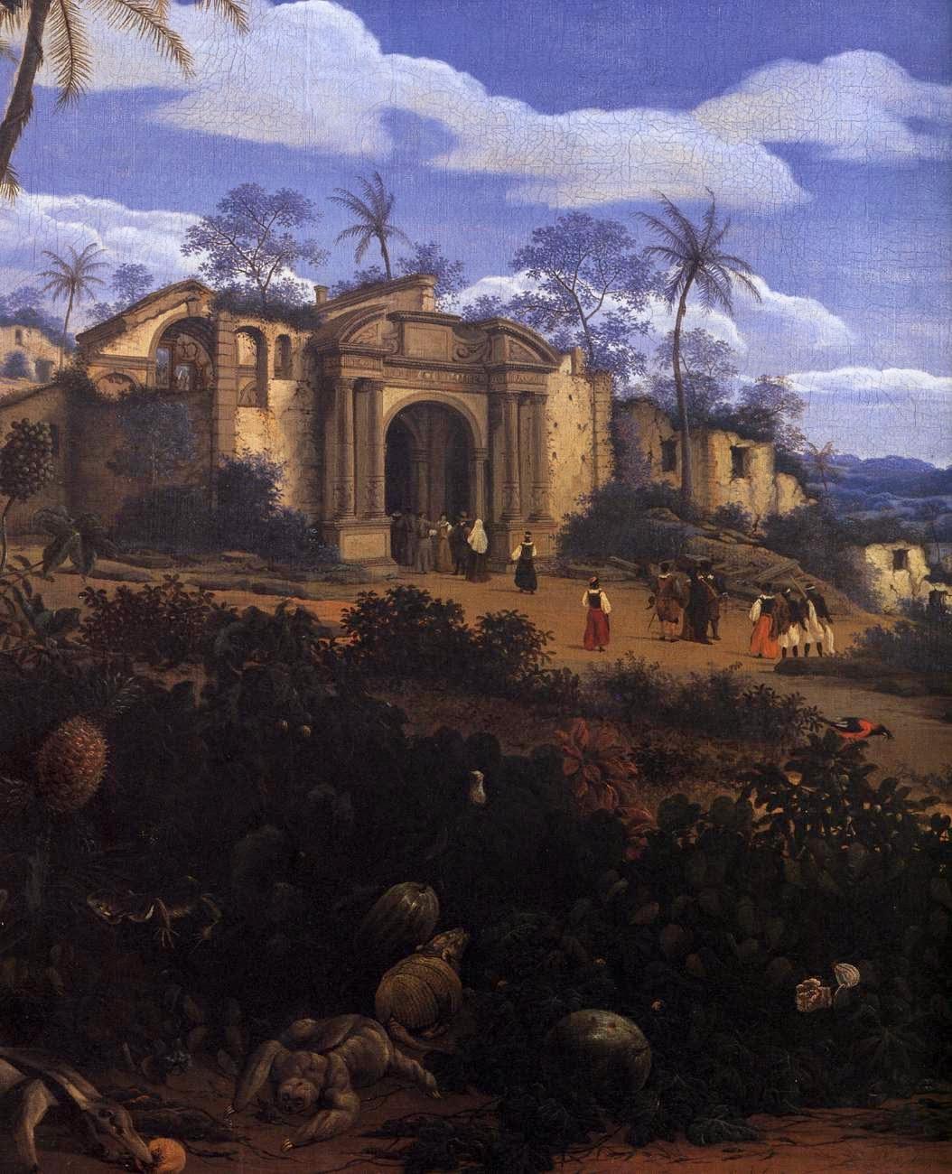 Vista de Olinda, Brasil ~ Frans Post - Holandês - Barroco Brasil Colonial