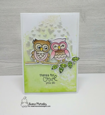 Thanks For All You Do a card by Diane Morales   What a Hoot Stamp Set by Newtons Nook Designs