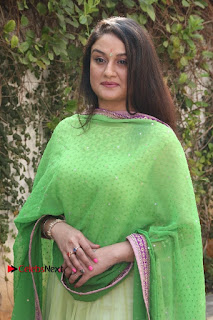 Actress Sonia Agarwal Stills in Green Anarkali Dress at Agalya Tamil Movie Launch  0006.jpg